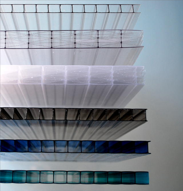 Cellular Polycarbonate Hollow Polycarbonate Sheets Solid